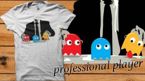 "T-Shirt Pac-Man ""professional player"" Bekelidung"